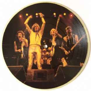 "Saxon ‎- And The Bands Played On (7"") (Picture Disc) (EX/NM)"